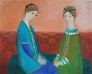 Sale 8867A - Lot 5093 - Verney Watts - Women Sitting 40 x 60cm
