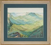 Sale 8892 - Lot 579 - Artist Unknown - Mountain Ranges, View to the Valley 26 x 32 cm