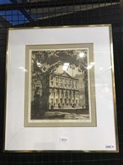 Sale 8981 - Lot 2016 - Austin Platt Royal Exchange, Sydney 1936 drypoint etching ed. 78/100, 44 x 38cm (frame - glass broken)