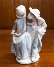 Sale 8313A - Lot 62 - A Lladro figure of a courting couple, incised mark 816, height 23cm
