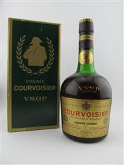 Sale 8385 - Lot 625 - 1x Courvoisier VSOP Cognac - old bottling in box, evaporative losses