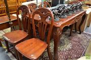 Sale 8515 - Lot 1067 - Seven Piece Dining Suite