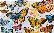 Sale 8527A - Lot 22 - David Bromley (1960 - ) - Butterflies 77 x 126cm