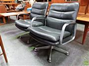 Sale 8607 - Lot 1038 - Pair of Framac Leather Upholstered Office Chairs