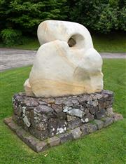 Sale 8677A - Lot 21 - Large sandstone sculpture, H x 170cm, W x 120cm