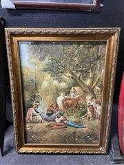 Sale 8932 - Lot 2065 - Artist Unknown - Gypsy Camp, oil on canvas, 120 x 94 cm