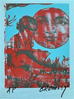 Sale 9091A - Lot 5020 - David Bromley (1964 - ) - Reading by Moonlight 56 x 38 cm