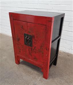 Sale 9129 - Lot 1075 - Chinese 2 door cabinet (h:81 x w:67 x d:41cm)