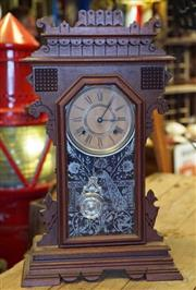 Sale 8320 - Lot 615 - American Ansonia striking 8 day mantle clock with key in pendulum c.1900