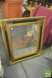 Sale 8352 - Lot 1074 - Gilt & Black Framed Mirror