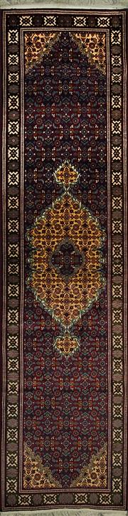 Sale 8412C - Lot 45 - Afghan Tabriz Design 356cm x 90cm