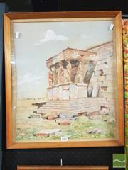 Sale 8449 - Lot 2065 - Artist Unknown (XX) - Classical Architecture 49.5 x 41.5cm