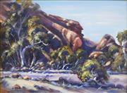 Sale 8563T - Lot 2012 - Allan Grosvenor - Shadows in Chambers Gorge, 1994, oil on canvas board, 29.5 x 39.5cm, signed lower right