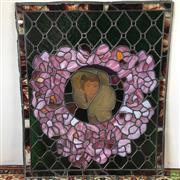 Sale 8649R - Lot 16 - Stunning Leadlight Glass Panel with a few minor faults (99 x 83cm)