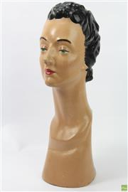 Sale 8626 - Lot 1 - Female 1950s/60s Mannequin Head (Some Losses)