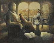 Sale 8657A - Lot 5045 - Tony Johnson (1943 - ) - The Red Hill Widow, 1974 62 x 74cm
