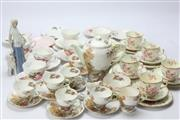 Sale 8673 - Lot 24 - Shelley Heather Coffee Set & Other Wares (AF)