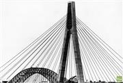 Sale 8721A - Lot 96 - Artist Unknown - Glebe Island Bridge (view from Annandale), 1994 19 x 28cm