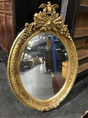 Sale 8822 - Lot 1140 - Oval Gilt Framed Mirror - 209