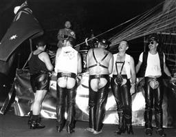 Sale 9082A - Lot 5024 - Sydney Gay and Lesbian Mardi Gras Parade, Art Gallery of NSW (1988), 25 x 20 cm, silver gelatin, Photographer: David Trood
