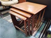 Sale 8435 - Lot 1068 - G-Plan Teak Nest of Tables