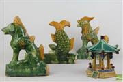 Sale 8490 - Lot 340 - Tang Style Terracotta Figures Together With A Carousel