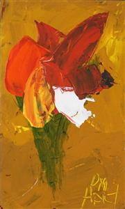 Sale 8549 - Lot 532 - Kevin Charles (Pro) Hart (1928 - 2006) - Orchid, c1980s 14.5 x 8cm