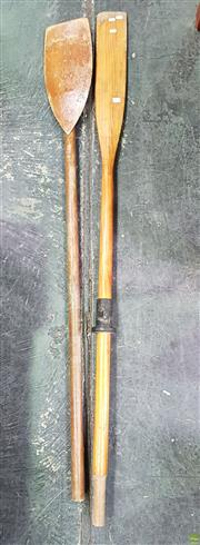 Sale 8589 - Lot 1035 - Pair of Timber Oars