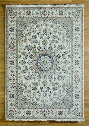 Sale 8680C - Lot 70 - Persian Indi Nain Wool & Silk Inlaid 169cm x 245cm