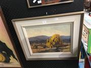 Sale 8711 - Lot 2065 - J. White - Landscape, Oil, 35x25cm
