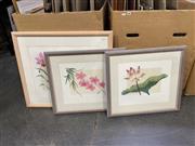 Sale 9050 - Lot 2070 - David Miles (3 works), Florals, limited edition screenprints, largest frame size: 62 x 72 cm, each SLR