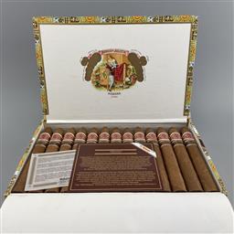 Sale 9165 - Lot 616 - Romeo y Julieta Piramides Anejados Cuban Cigars - box of 25 cigars, June dated 2008