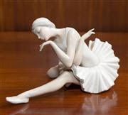 Sale 8313A - Lot 64 - A Lladro figure of a ballerina, incised mark K42E, height 14cm