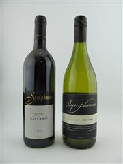 Sale 8353A - Lot 849 - 10x Symphonia Wines, King Valley - 5x 2002 Saperavi, 5x 2004 Pinot Grigio