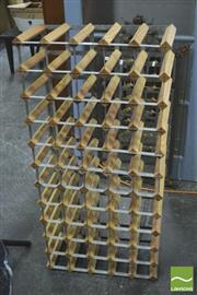 Sale 8392 - Lot 1067 - Metal and Timber Wine Rack