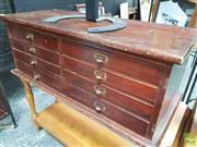 Sale 8435 - Lot 1097 - Pine Seven Drawer Desk Chest