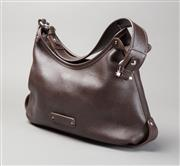 Sale 8499A - Lot 46 - A Salvatore Ferragamo brown leather shoulder bag, with missing stud to handle.