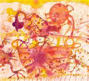 Sale 8527A - Lot 7 - John Olsen (1928 - ) - Coq au vin 52 x 57cm