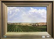 Sale 8563T - Lot 2015 - P. Vanhoof - Country Fields, oil on board, 28.5 x 44.5cm, signed lower right