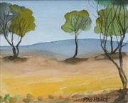 Sale 8704A - Lot 5017 - Kevin Charles Pro Hart (1928 - 2006) - Landscape 10 x 12.5cm