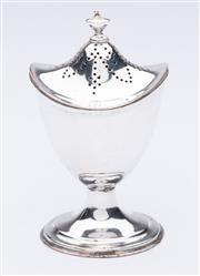 Sale 9015J - Lot 90 - An antique Sheffield plate pounce pot or sander C: 1800s Ht: 10cm