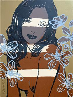 Sale 9091A - Lot 5021 - David Bromley (1964 - ) - Gillian 74.5 x 56.5 cm