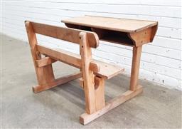 Sale 9129 - Lot 1085 - Vintage timber school desk (h:61 w:81 d:67cm)