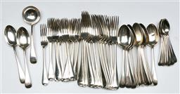 Sale 9138 - Lot 49 - Victorian Hallmarked Sterling Silver Service in the Old English Pattern, c1895, London, made by George Maudsley Jackson - wt 2412g