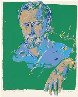 Sale 9212A - Lot 5073 - ERIC SMITH (1919 - 2017) - Portrait of John Molvig, 1969 101 x 72 cm, sheet