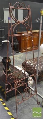 Sale 8284 - Lot 1028 - Wrought Iron Easel with Scrolled Work