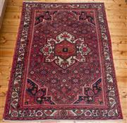 Sale 8435A - Lot 5 - A Hamadan wool carpet with Herati ground in pink and cream tones, 210 x 150cm