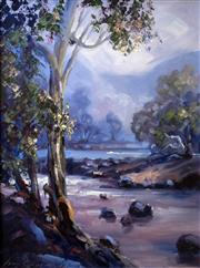 Sale 8563T - Lot 2029 - Alan Grosvenor Thredbo River, 1994 oil on board, 39 x 29cm, signed lower left