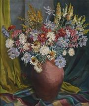 Sale 8704 - Lot 593 - Joan West (1927 - ) - Summer Flowers 61 x 51cm