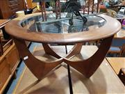 Sale 8705 - Lot 1073 - G Plan Atmos Circular Coffee Table with Glass Top